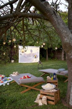 Make the most of these long warm evenings and set up an outdoor cinema in your own garden. It's super simple to set up and means you'll have the best seat in the house. What you'll need: A projecto...