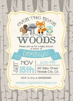 Woodland baby shower invitation woodland by SweetBeeDesignShoppe