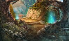 Dark Realm- Lord of The Winds http://www.bigfishgames.com/games/11568/dark-realm-lord-of-the-winds-ce/  #beforeandafter #scene #gamedev #gamedevelopment #madheadgames  #statue #bigfishgames #hopa #adventure #hiddenobjectgame  #stairs #path #tree #monument #passage