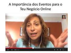 A Importância de Estar nos Eventos para o Teu Negócio Online by Paula Garcia via slideshare Porque é que outras pessoas estão a ter sucesso no seu negócio e eu ainda não? Resposta aqui: http://www.slideshare.net/paulavgarcia/a-importncia-de-estar-nos-eventos-para-o-teu-negcio-online