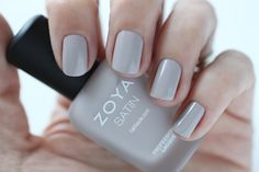 Zoya Naturel Satins Leah Swatch -  Light Purple Taupe Cream Nail Polish for Spring 2015