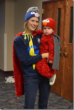 A easy elmo costume now thats a good daddy elmo although a costume similar to this was worn by my mother for my preschool class i dedicate this pin to every homemade costume sewn painstakingly for every solutioingenieria Choice Image