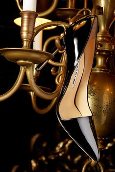 Look no further for your perfect patent pump than this d'Orsay style from Manolo Blahnik!