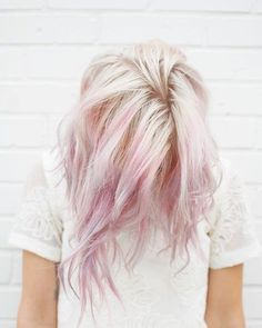 Blonde dyed tips pink hair short hair wavy hair do it yourself pinteresternikar solutioingenieria Image collections