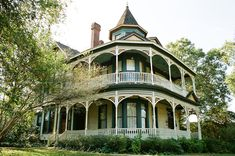 I love old victorian houses with wrap around porches