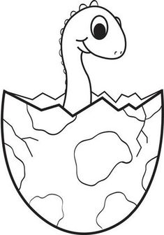 Cartoon Baby Dinosaur Coloring Page is part of Dinosaur coloring pages - This is certainly a fun and unique coloring page of a cartoon dinosaur hatching from an egg It's free and easy to print so what are you waiting for Dinosaurs Preschool, Dinosaur Activities, Dinosaur Crafts, Baby Dinosaurs, Infant Activities, Preschool Crafts, Educational Activities, Preschool Activities, Egg Coloring Page