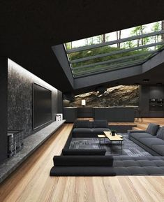 Home Room Design, Dream Home Design, Modern House Design, Home Interior Design, Modern Houses, Luxury Modern House, Cool Houses, Modern Glass House, Amazing Houses