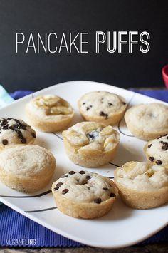 Pancake puffs - des crêpes ou des gauffres en forme de muffins.