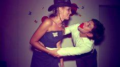 Fotobox Cowgirl Kuss Hochzeit