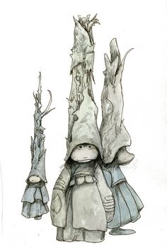 """The Taller the Hat..., 2011, 11.75"""" x 9"""" by Brian Froud"""