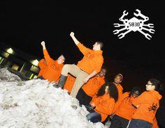 Team 5830, The Irrational Engineers rocking their brand new orange hoodie sweatshirts. #Team5830 #IrrationalEngineers #OMGROBOTS