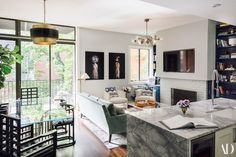 A Downtown Manhattan Apartment with Luxe Details and Tons of Art Photos | Architectural Digest