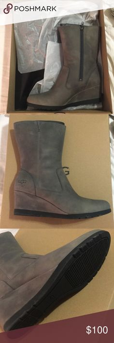 Ugg Joely Leather Waterproof Boots NIB New Brand New. Ordered these and never used them, but I waited too long to return. My loss is your gain. UGG Shoes Winter & Rain Boots