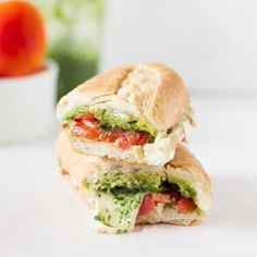 Caprese Sandwich with Parsley Pesto - Jessica In The Kitchen