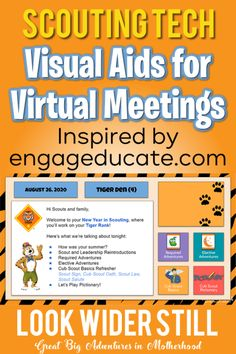 Scouting Tech: Visual Aids for Virtual Meetings – Look Wider Still