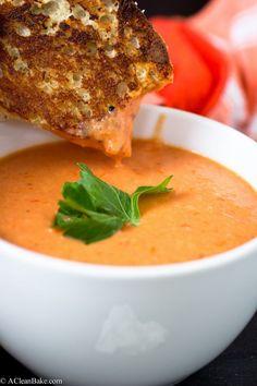 Creamy Homemade Tomato Soup - vegan w/ full fat coconut milk