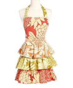 Loving this Tropical Trio Apron - Adult on #zulily! #zulilyfinds for only $20