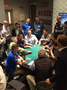 """Last Thursday, our team had a fantastic time at our """"Chips for Charity"""" quarterly poker tournament! To date, this is the largest tournament we have hosted, with an astounding 70+ guests in attendance! A total of $1500 was raised at the tournament, and as always, Tundra matched the funds and a donation will be made to Kids Cancer Care for $3000. Way to go everybody, chippin' in for a great cause."""