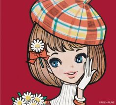 内藤ルネ Anime Chibi, Manga Anime, Vintage Images, Vintage Art, Showa Era, Coloring Book Art, Japanese Illustration, 2d Art, Chinese Art