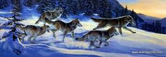 In the print Run for the Moment, Al Agnew creates a great scene of a wolf pack pounding through the winter snow--probably trying to outrun each other to get to their next prey. Check our website for o