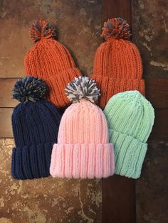 Beanie Knitting Patterns Free, Baby Hat Patterns, Baby Hats Knitting, Knitting For Kids, Knitting Socks, Knit Patterns, Knitted Hats Kids, Crochet Hats, Knitted Beanies