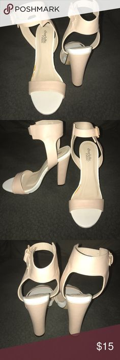 Heels ! Blush/white color heels with buckles at the ankle! Nice fit! Size 7 😊🎀💕 Charlotte Russe Shoes Heels