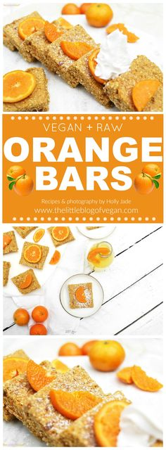 RAW, vegan & gluten-free zesty orange bars, ultra refreshing, perfect /healthy treat.