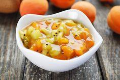 Kiwi-Marillenmarmelade schmeckt herrlich zu Käse. Versuchen sie dieses #Rezept in der Marillenzeit, sie freuen sich im Winter über diese #Marmelade.