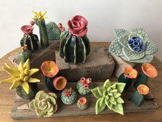 Kids Clay, Play Clay, Cactus Ceramic, Ceramic Flowers, Ceramic Pottery, Ceramic Art, High School Ceramics, Pottery Handbuilding, Rock Crafts