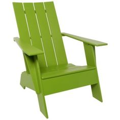 Adirondack 4 Slat Compact Chair by Loll Designs at Lumens.com Contemporary Adirondack Chairs, Modern Outdoor Furniture, Deck Furniture, Lounge Seating, Outdoor Lounge, Outdoor Chairs, Outdoor Living, Lounge Chairs, Courtyards