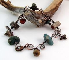 Michigan stones and copper bracelet by rwilberg