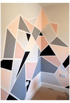 Wall Painting Decor, Mural Wall Art, Diy Wall Art, Decorative Wall Paintings, Painting Designs On Walls, Creative Wall Painting, Wall Paint Patterns, Wall Paint Colors, Paint Designs For Walls
