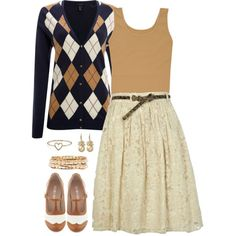 Navy and Tan, created by jamie-burditt on Polyvore