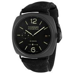 Panerai Radiomir 8 Days Black Dial Automatic Black Ceramica Men's Watch PAM00384 - Radiomir - Panerai - Watches - Jomashop