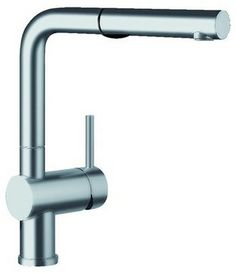 Qualitybath.com has lowest price on this - 278.  Blanco 441404 Satin Nickel Linus Linus Kitchen Faucet with Pullout contemporary kitchen faucets