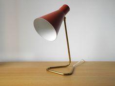 Original 50er Messing Stilnovo Italy Tischlampe von RetroRaum auf DaWanda.com