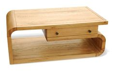 Highlands Oak Living - Rectangle Coffee Table with Drawer (Natural Finish) With all sorts of different sizes to accommodate any living space, the Highlands Oak collection is a well-rounded and versatile option for home improvement