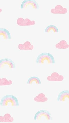 awesome Rainbow and clouds pastel iPhone wallpaper. Wallpaper Iphone Pastell, Phone Wallpaper Pink, Pastel Iphone Wallpaper, Cloud Wallpaper, Rainbow Wallpaper, Iphone Background Wallpaper, Kawaii Wallpaper, Tumblr Wallpaper, Galaxy Wallpaper