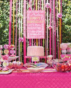 Darling Non Fiction Fun Pink Birthday Party