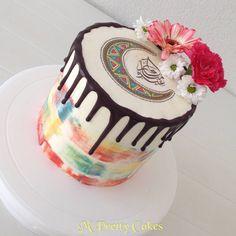 Happy Eid Mubarak, Eid Al Adha, Cake Art, Eid Cakes, Frost, Cake Decorating, Birthday Cake, Treats, Cookies