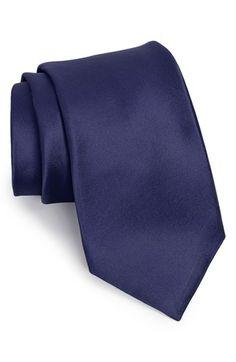 $49, Woven Silk Tie Navy Regular by Nordstrom. Sold by Nordstrom. Click for more info: http://lookastic.com/men/shop_items/135708/redirect