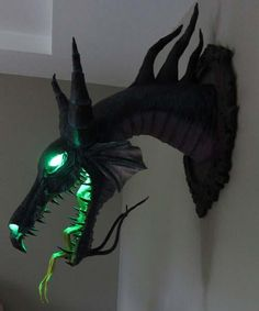 """I found 'Paper Mache """"Maleficent"""" Dragon Trophy' on Wish, check it out!"""