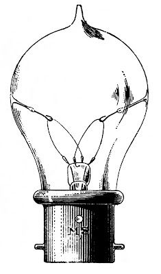 Vintage Clip Art - Old Fashioned Light Bulb - The Graphics Fairy