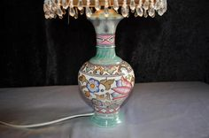 English Porcelain - Charlotte Rhead Lamp -TL76- Wind Tossed Tulip Pattern for sale in Johannesburg (ID:217773525)