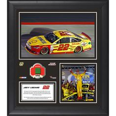 """Joey Logano Fanatics Authentic Framed 15"""" x 17"""" 2014 Irwin Tools Night Race at Bristol Motor Speedway Race Winner Collage With Race-Used Flag-Limited Edition of 500 - $79.99"""