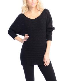 Another great find on #zulily! Black Dolman Sweater #zulilyfinds