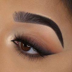 Eye Makeup Steps, Makeup Eye Looks, Eye Makeup Art, Natural Eye Makeup, Smokey Eye Makeup, Eyeshadow Makeup, Makeup Inspo, Basic Eye Makeup, Brown Makeup Looks