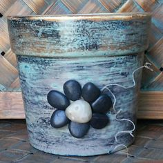 Check out this item in my Etsy shop https://www.etsy.com/listing/234933868/hand-painted-rustic-terracotta-pot-cute