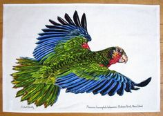 Parrot Tea Towel - Made by Richard Bramble