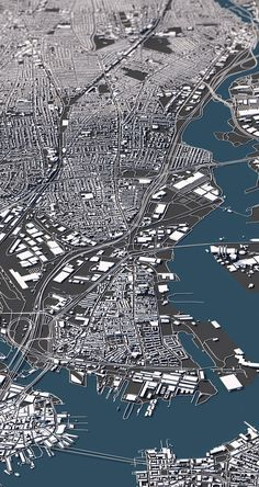 """""""A city's appeal is often hidden in its basic structure. These unique three-dimensional city maps show the topography, architecture and street network of a city from an entirely new perspective. A perfect mix of information and visual fascination.""""The g…"""
